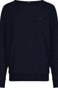 tommy hilfiger sweatshirt »oversized open-nk sweatshirt ls« blauw