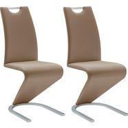mca furniture vrijdragende stoel amado set van 2, 4 en 6 stuks, stoel belastbaar tot 120 kg (set) bruin