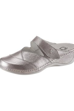 mubb slippers met verwisselbaar memory-voetbed zilver