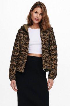 only gewatteerde jas onlnewtahoe hood aop jacket bruin