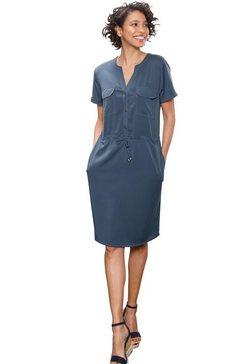 creation l premium zomerjurk lyocell jurk blauw