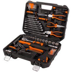 profiwerk gereedschapskoffer inclusief 148-delige gereedschapsset zwart