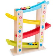 new classic toys knikkerbaan little driver - rollerbaan met auto's, ster multicolor