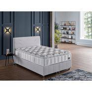 i̇sti̇kbal pocketveringsmatras new comfort sleep onvergelijkbaar slaapcomfort, met opgestikte comfortschuimtopmatras hoogte 35 cm wit