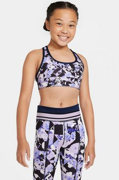 nike sportbustier »girls printed reversible bra« blauw