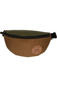 converse heuptasje sling pack, khaki mix field surplus met logopatch groen