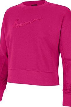nike sweatshirt women's swoosh training crew roze