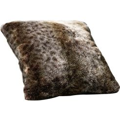 star home textil sierkussen lynx bijzonder zacht, van hoge kwaliteit (1 stuk) grijs
