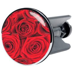 sanilo wastafelplug rosen ø 4 cm rood