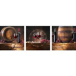 conni oberkircher´s wanddecoratie »wine barrels« multicolor