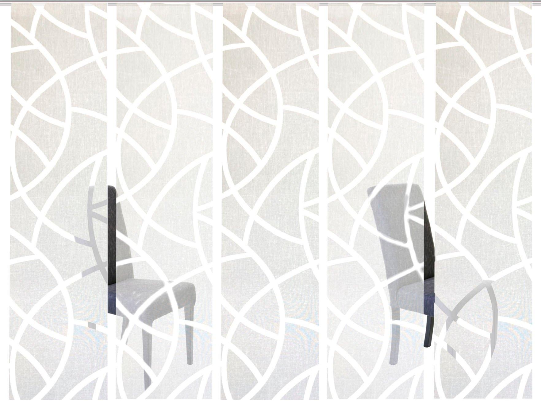 HOME WOHNIDEEN Paneelgordijn CASSÉ Gordijnstof, met transparante scherli (5 stuks) - gratis ruilen op otto.nl