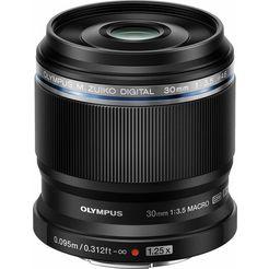 olympus »m.zuiko digital ed 30 mm« macro-objectief zwart