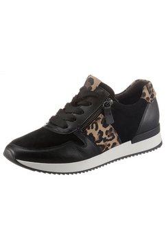 gabor sneakers met sleehak in luipaard-look zwart