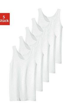 hemd fijnribkwaliteit, puur katoen (5 stuks) wit