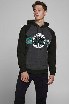 jack  jones hoodie »ruben sweat hood« zwart