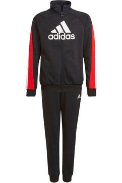 adidas performance trainingspak badge of sport cot tracksuits junior mens (set, 2-delig) zwart