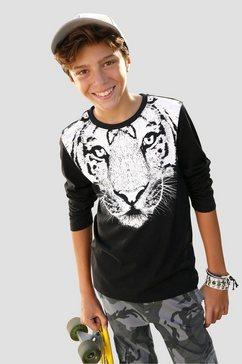 kidsworld shirt met lange mouwen white tiger zwart