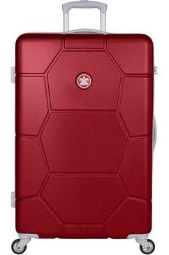 suitsuit harde trolley 'caretta, 75 cm', 4 wieltjes rood