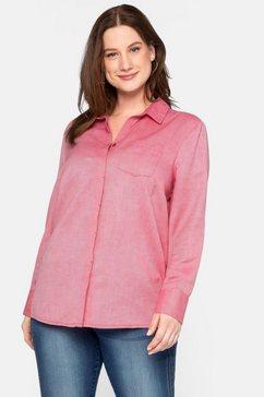 sheego casual overhemdblouse rood