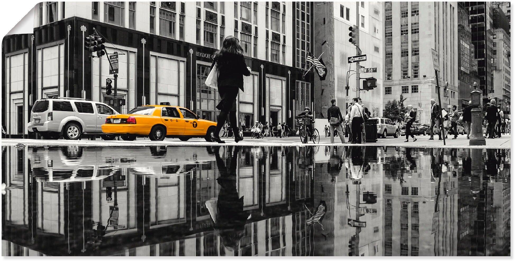 Artland artprint New Yorkse straat in vele afmetingen & productsoorten -artprint op linnen, poster, muursticker / wandfolie ook geschikt voor de badkamer (1 stuk) online kopen op otto.nl
