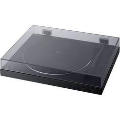 sony platenspeler ps-lx310bt phono voorversterker, auto-play functie, aluminium draaitafel zwart