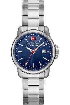 swiss military hanowa zwitsers horloge swiss recruit lady ii, 06-7230.7.04.003 zilver