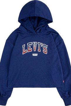levi's kidswear hoodie in kort model blauw
