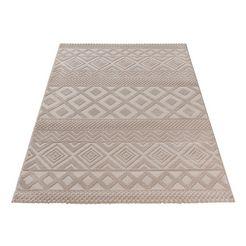 sehrazat oosters tapijt luxury 6100 relifstructuur, woonkamer beige