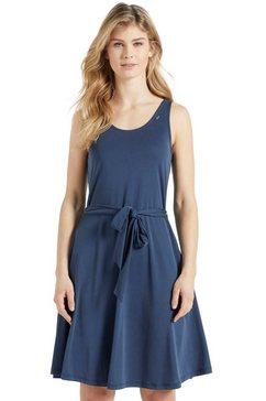 khujo shirtjurk louanne zomerjurk met bijpassende bindceintuur in de taille blauw