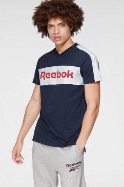reebok t-shirt »te ll ss graphic te« blauw