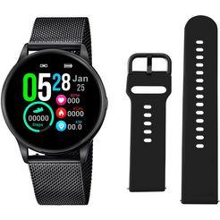 lotus smartwatch smartime, 50002-1 (3-delig, met wisselband van zacht silicone en oplaadkabel) zwart