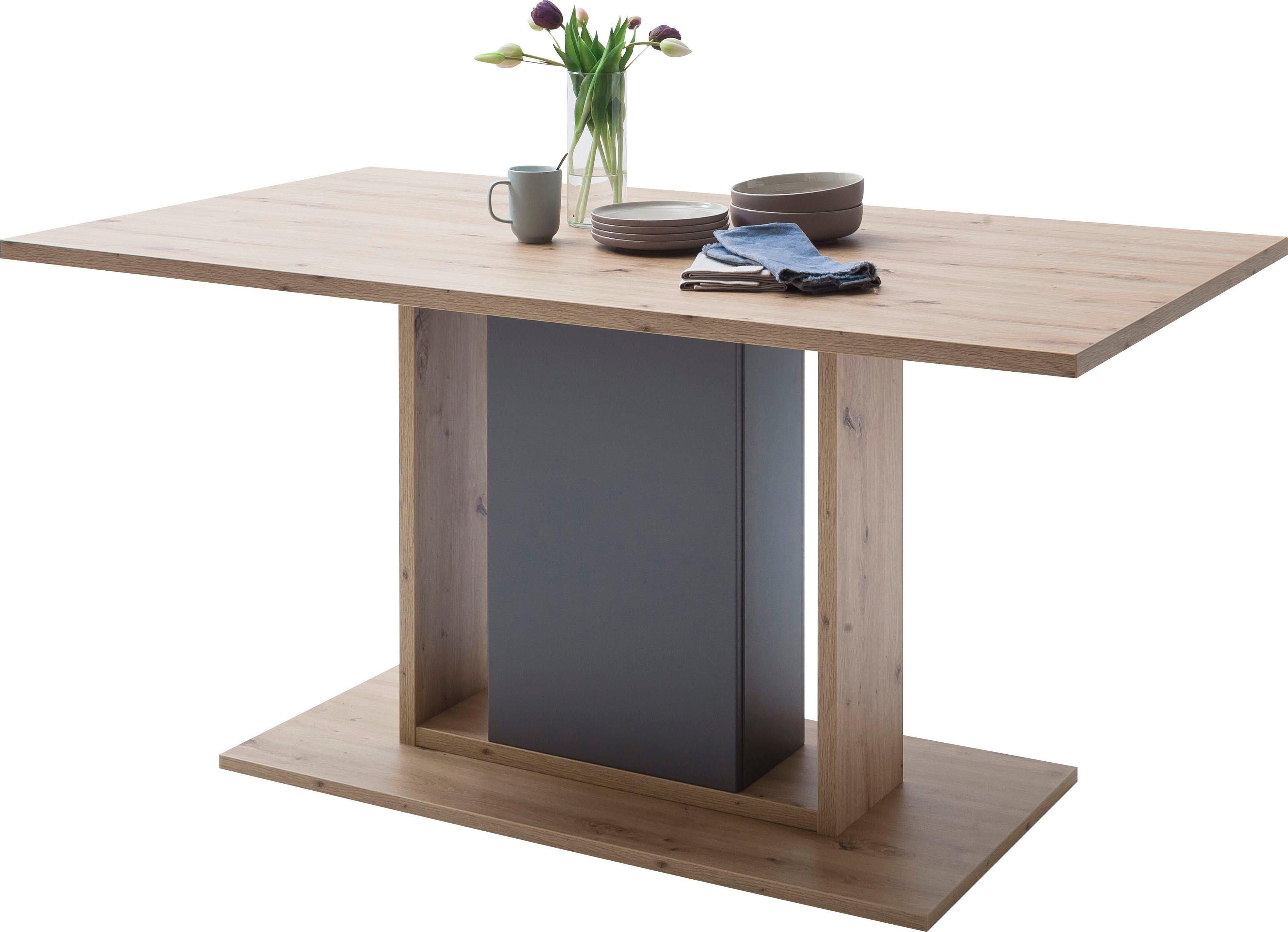 MCA furniture eettafel Lizzano Landelijke stijl modern, tot 80 kg belastbaar, tafel 160 cm breed bij OTTO online kopen