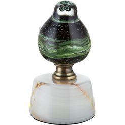 gilde glas art decoratief figuur vogel op base florence decoratief object, dierfiguur, met de hand gemaakt, van glas, met marmeren voet, te bestellen in verschillende afmetingen, woonkamer (1 stuk) groen