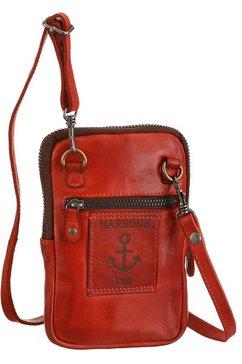 harbour 2nd mini-bag benita van stevig leer met kenmerkende merk-anker-label oranje