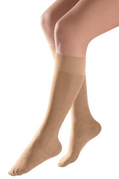 compressie-kniekousen voor het verbeteren van de doorbloeding beige