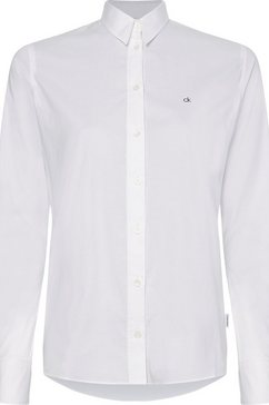 calvin klein overhemdblouse »slim shirt ls« wit