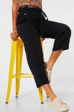 street one 7-8-broek emee met een bindceintuur zwart