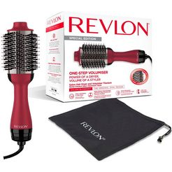 revlon stylingborstel met warme lucht rvdr5279uke salon one-step haardroger volumiser rood