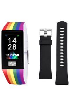 calypso watches smartwatch smartime, k8500-7 met wisselband (set, 2-delig, met zwarte wisselband) multicolor