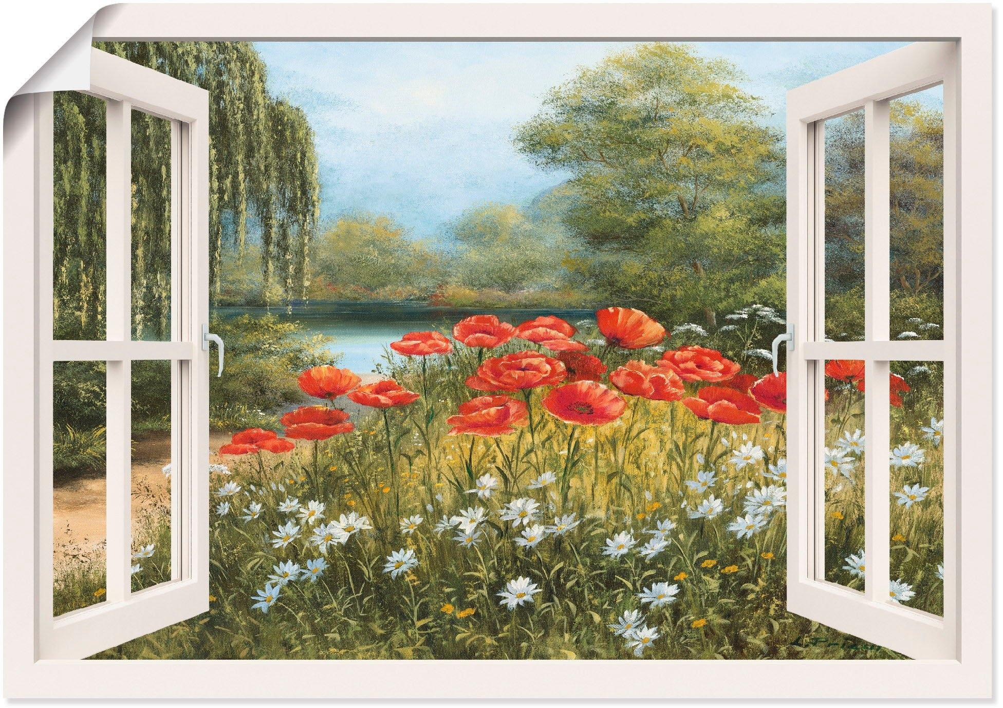 Artland artprint »Fensterblick Mohnwiese« goedkoop op otto.nl kopen