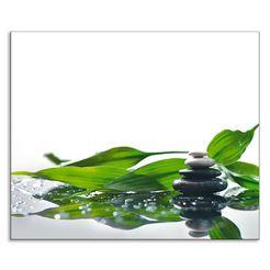 artland keukenwand spa mit steinen und bambus (1-delig) groen