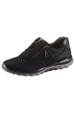gabor rollingsoft sneakers met sleehak zwart