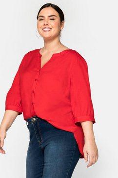 sheego blouse met lange mouwen rood