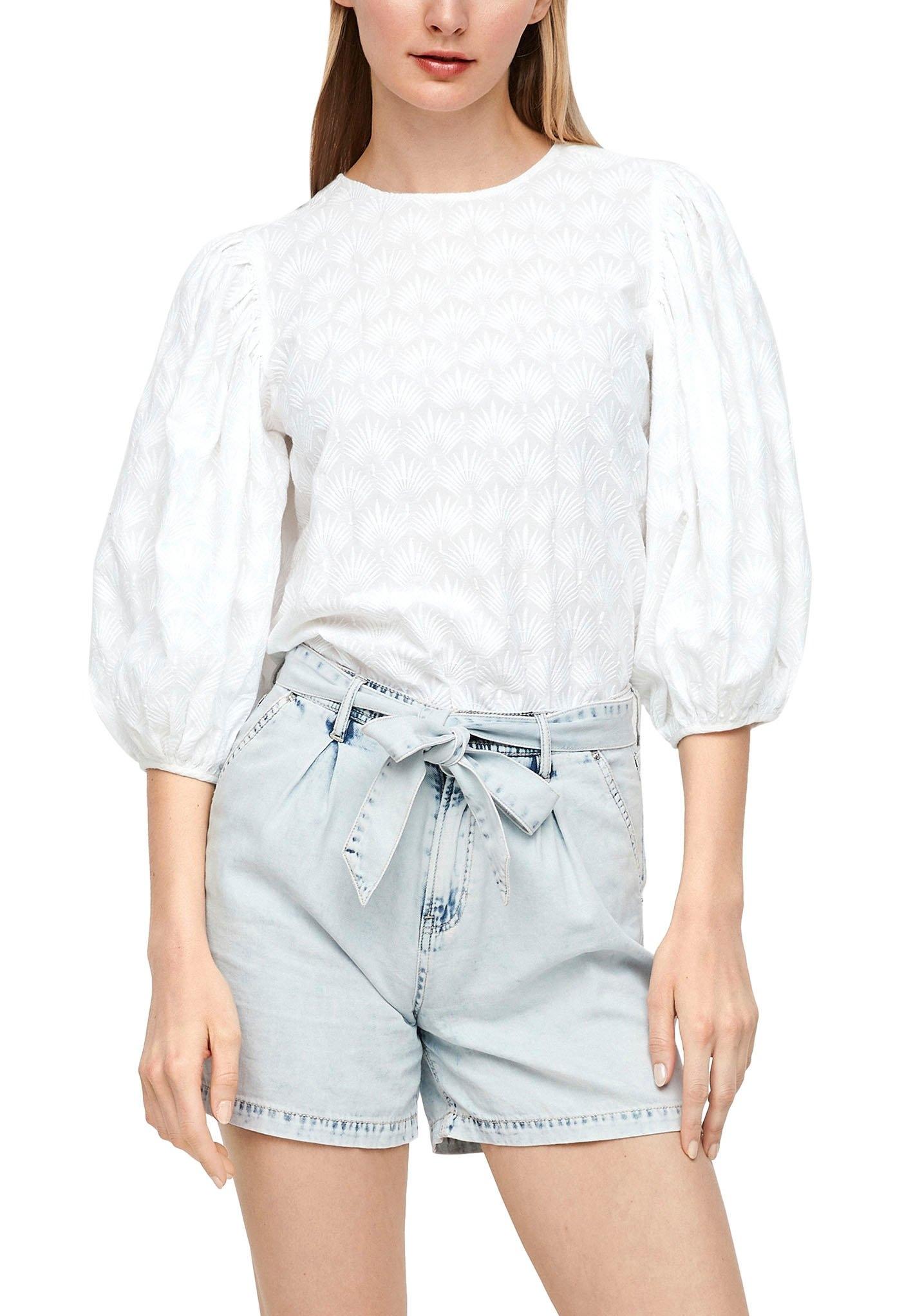 s.Oliver kanten blouse met wijde pofmouwen goedkoop op otto.nl kopen