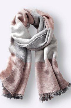 casual looks modieuze sjaal roze