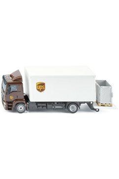 siku speelgoed vrachtwagen siku super, man met koffertruck en oplegger wit