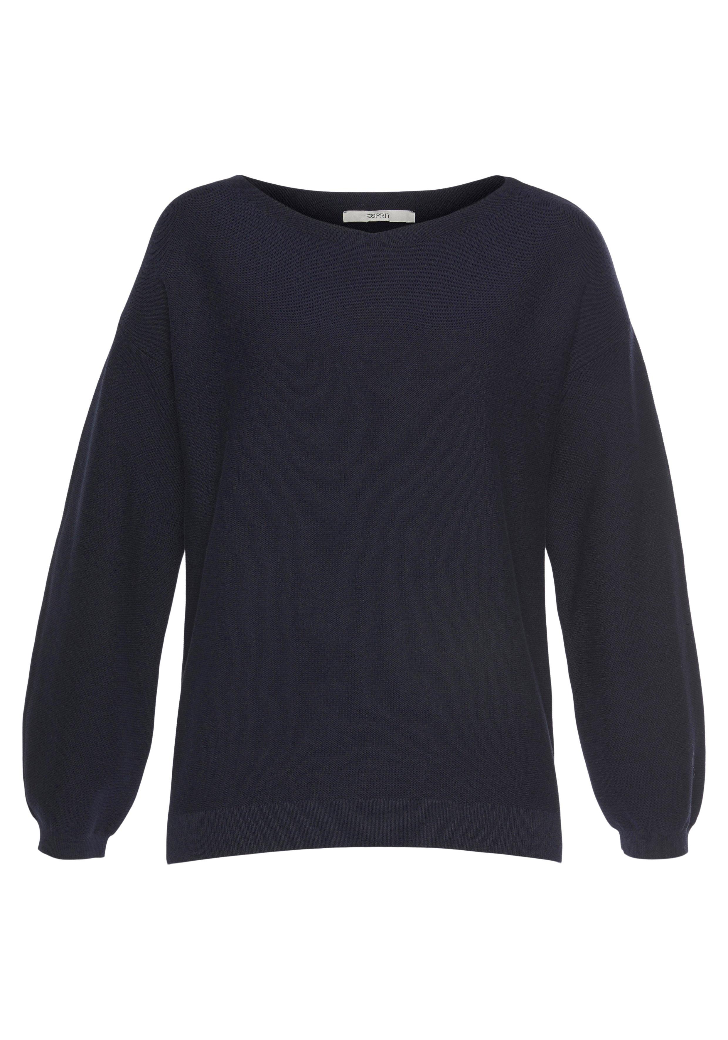 Esprit Gebreide trui met verlaagde schoudernaden en boothals online kopen op otto.nl