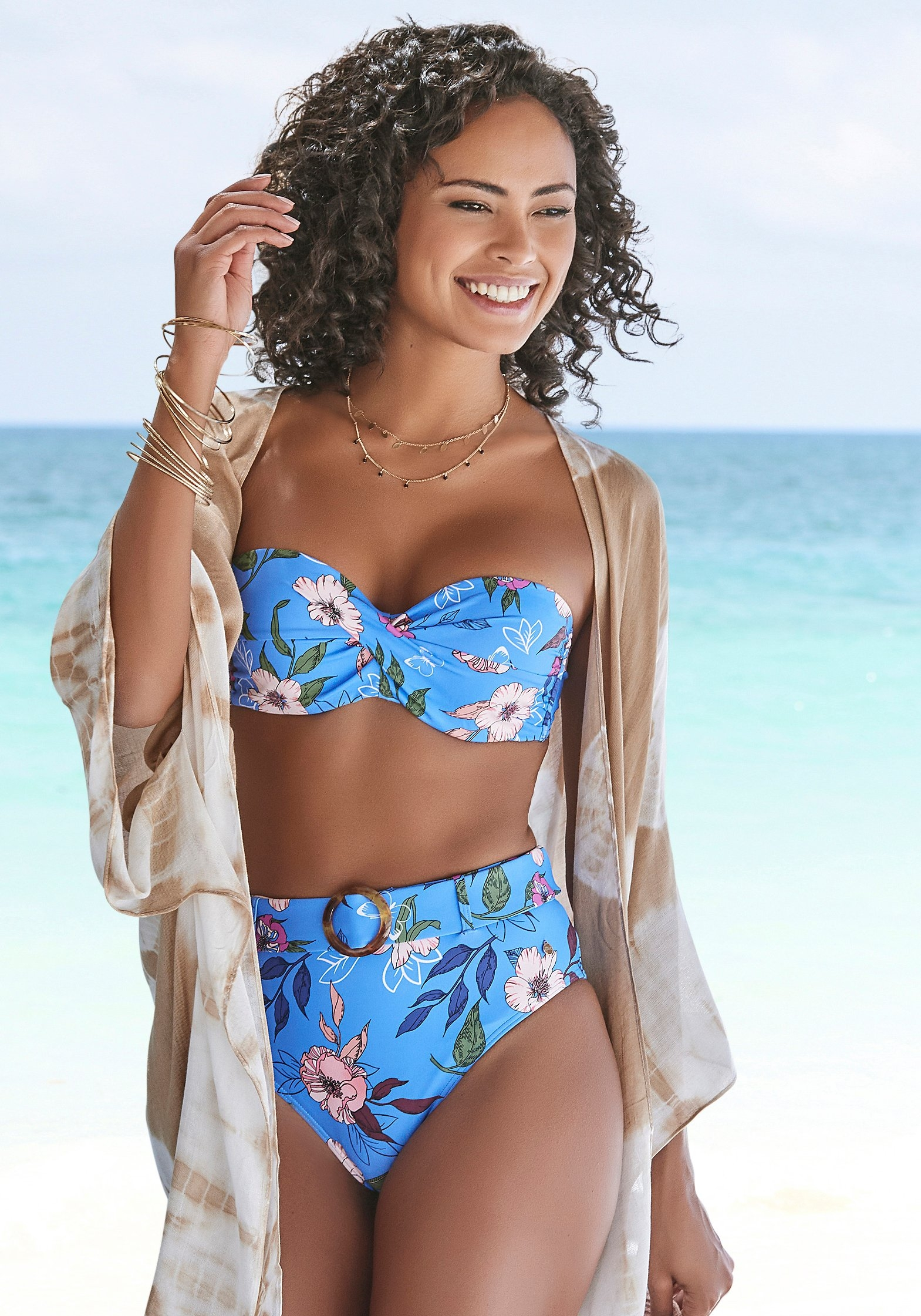 s.Oliver RED LABEL Beachwear Highwaist-bikinibroekje Maya met een afneembare riem en gesp in hoorn-look - verschillende betaalmethodes