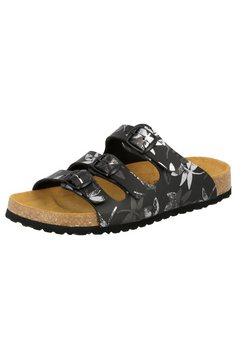 lico slippers »pantolette bioline leave« zwart