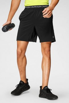 "calvin klein performance trainingsshort »7"" woven shorts« zwart"